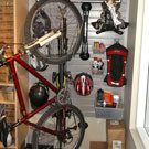 Steadyrack vertical bike storage system for small tight spaces