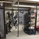 Steadyrack vertical bike rack system fits in storage cages