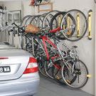 Steadyrack vertical bike storage system in your garage
