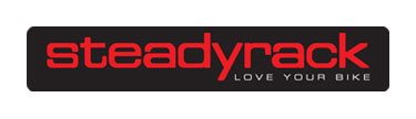 Steadyrack vertical bike storage system logo