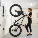Steadyrack vertical bike storage system for fat bikes