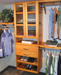 John Louis custom closet installation